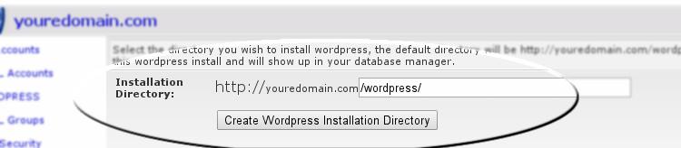 Wordpress Install Directory